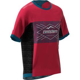 Zimtstern TechZonez T-shirt Heren, jester red/french navy/glacier grey